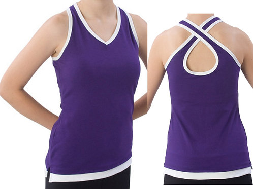 Layered Stretch Cheer Top