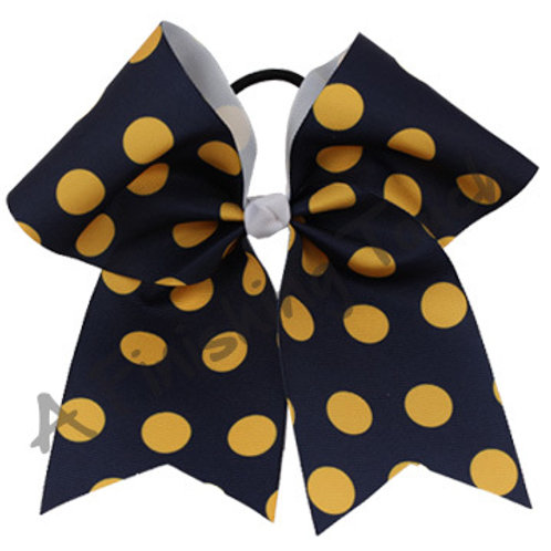 AFT Sublimation Two Color Polka Dot Cheer Bow