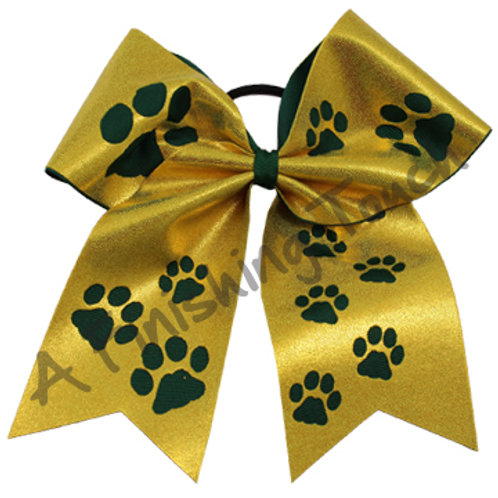 AFT 2 Color Paws Cheer Bow