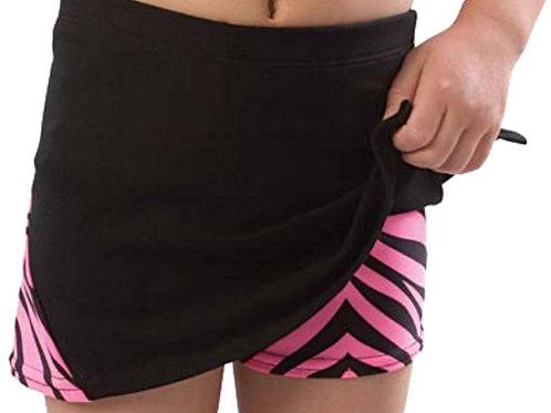 Zebra Cheer Skirt w/ Built in Boy Cut Shorts