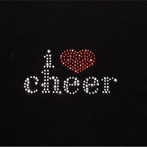 "LT 100 ""I LOVE CHEER' HTR Applique"