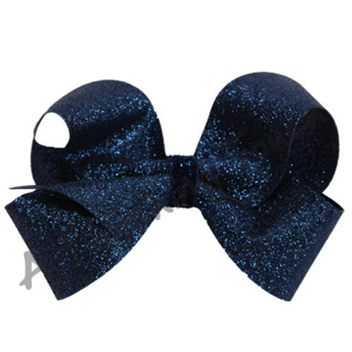 Four Loop Glitter Bow w/ Glitter Wrap