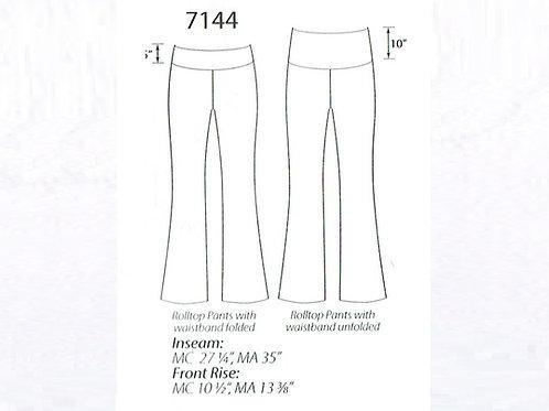 MW7144 Roll Waist Tight Thigh Jazz Pants