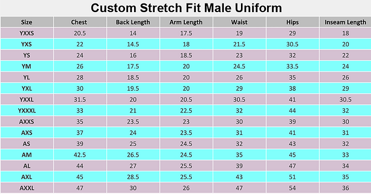 Custom Stretch Fit and All-Stars Uniform