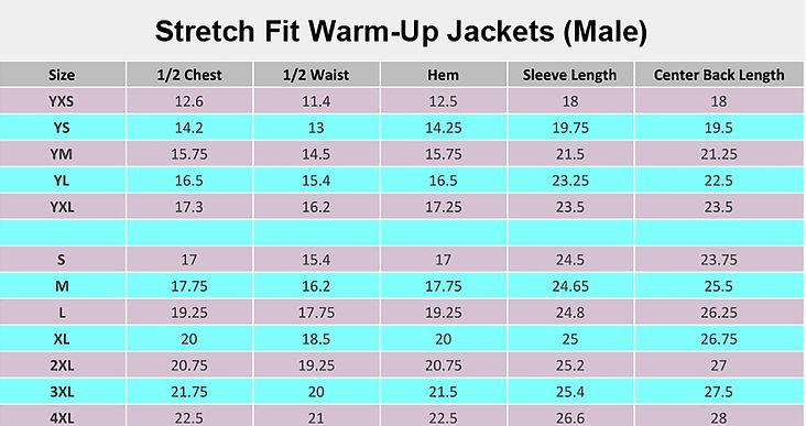 Custom Stretch Fit Warm-Up Jacket (Male)