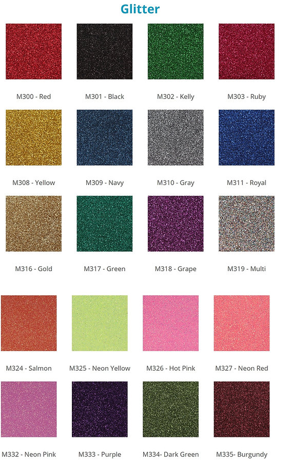 Custom Cheer Bow Heat Press Options. Glitter Selection.