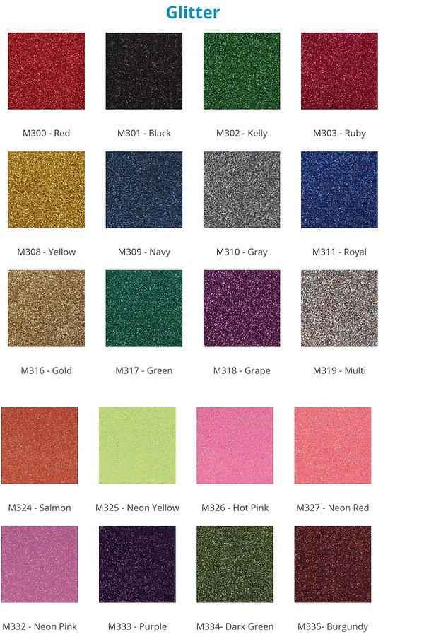 Custom Cheer Bow Heat Press Options. Glitter Selection.