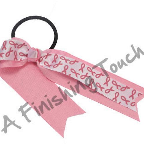 BC371- Pink Ribbon Streamer Bow