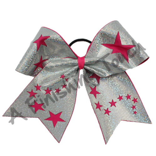 Cut out Stars Cheer Bow