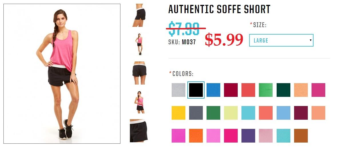 Soffe Cheerleading Shorts $5.99
