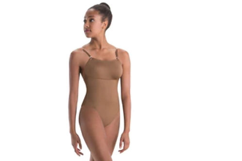 MW2485 Convertible-Strap Leotard with Removable Padded Cups