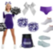 Cheer Uniforms, Poms, Bow, Shoes, body wear and bags