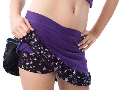 Super Star Cheer Skirt w/ Built in Boy Cut Shorts - Pizzazz