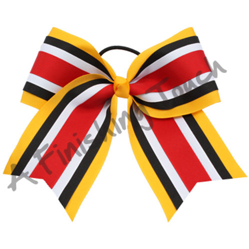 AFT Four Layer Cheer Bows w/ Tails