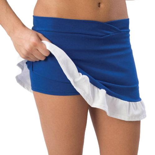 Pizzazz Ruffled Cheer Skirt w/ Built in Boy Cut Shorts - Pizzazz