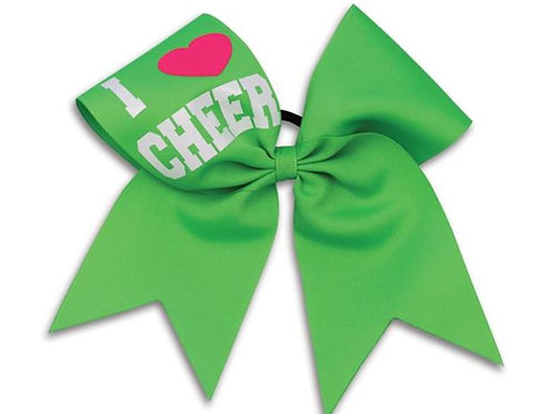 Pizzazz I LOVE CHEER Bow