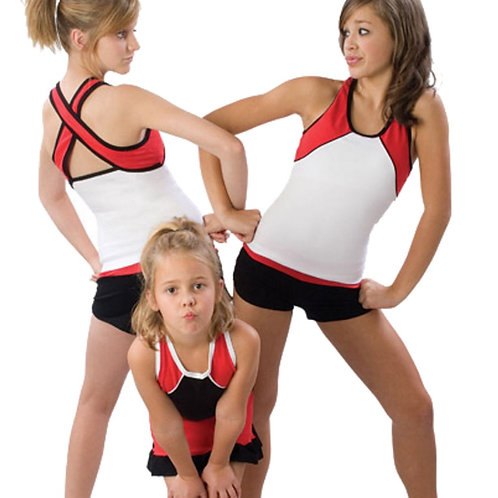 Tri-Color Stretch Cheer Top