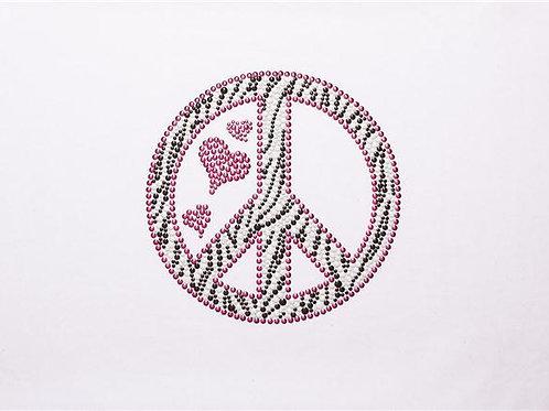 Style # LT320 Zebra Peace Sign