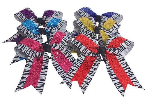 Pizzazz Double Layer Zebra Print w/ Sequin Ribbon