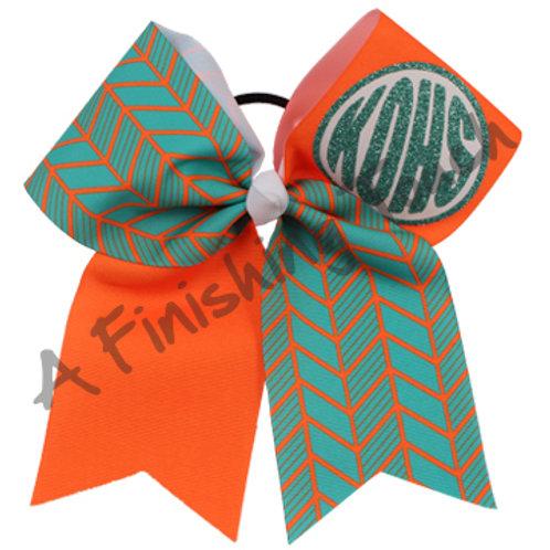 Monogram Cheer Bow 5 Layouts