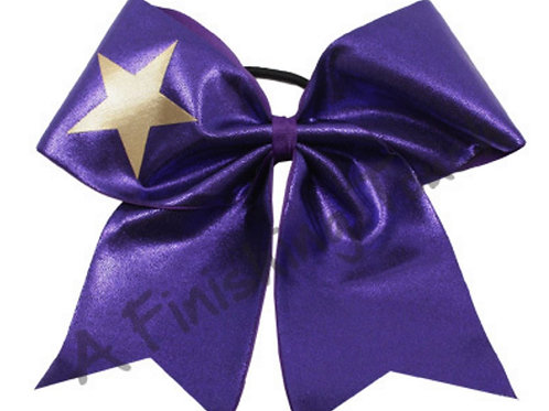 AFT Basic Short Tailed Cheer Bow with Star