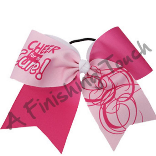"BC924A- ""Cheer for the Cure!"" Bow"