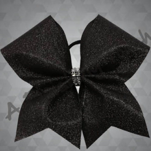 Solid Layer Glitter Cheer Bow w/ Graphic Options 7 Layouts