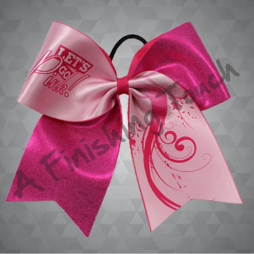 BC904- Let's Go Pink! Breast Cancer Bow