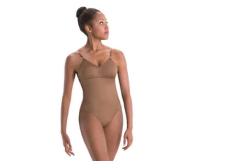 MW2487 Convertible-Strap Leotard with V-Neck and Removable Padded Cups