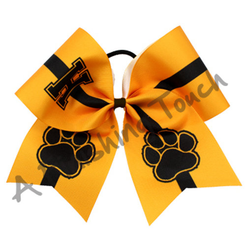 AFT Large Initial w/ Two Large Paws Bow