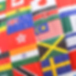 Colorful world flags collage suitable as