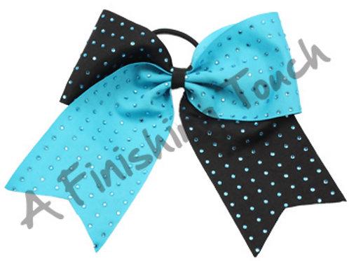 One Layer Cheer Bow w/ Rhinestones 4 Layouts