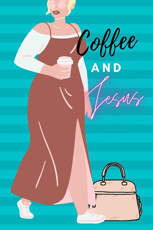 coffee and Jesus phone wallpaper design3