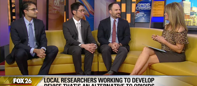 Jacob and colleagues discuss wireless bioelectronic treatment for pain on Fox26