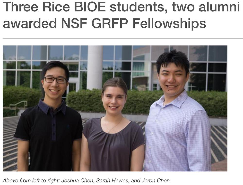 Josh Chen wins NSF GRFP