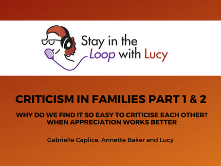 Criticism in Families