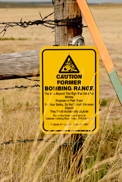CAUTION-Former Bombing Range-detail