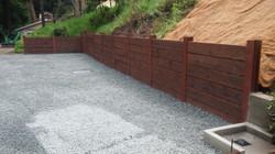 retaining wall, steel h beam, auger,