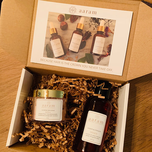 Custom Holiday Boxes - SHAKTI hair oil, SONA face scrub