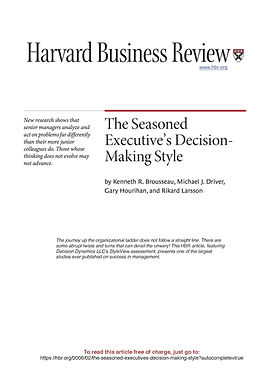 The seasoned executive's decision-making