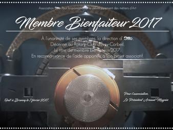 Le Rotary-Club Évry-Corbeil, Membre Bienfaiteur 2017 de l'association Etto