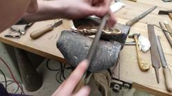 Reprise de fonte sur bronze