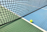 Ball on Tennis Court
