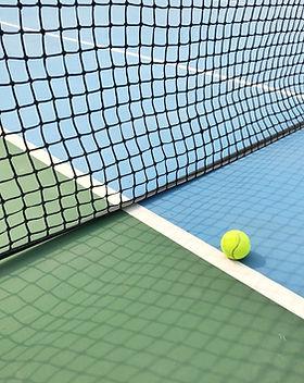 Ball on Tennis Court