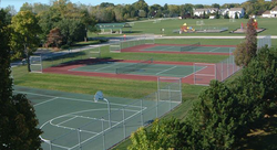 SPORTS PARK AND COURTS NEXT TO TOWER