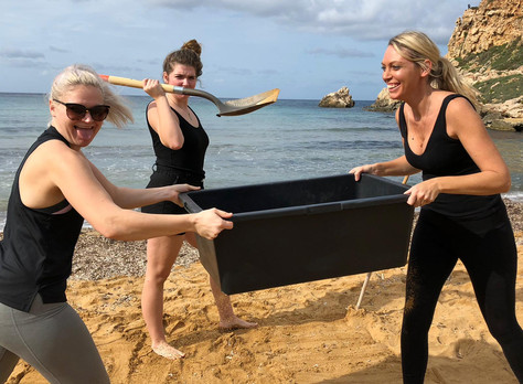 Crew Go Sand Sifting For Microplastics