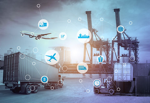 Business Logistics concept, Global busin