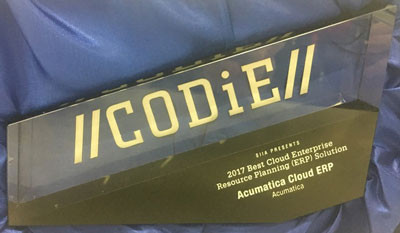 Acumatica Wins 2017 CODiE Award for Best Cloud ERP!