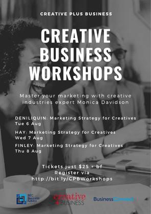 Creative Business Workshops, Deniliquin, Hay, Finley.