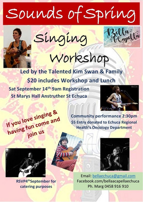 Bella is very excited about this years 'Sounds of Spring' singing workshop.